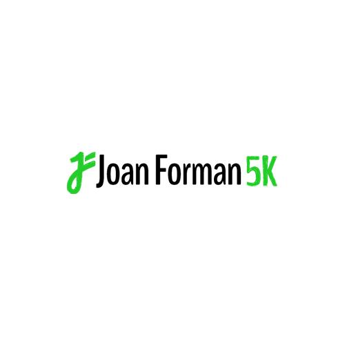 Website Build: Joan Forman 5K, website design & logo by Lauren Harvey
